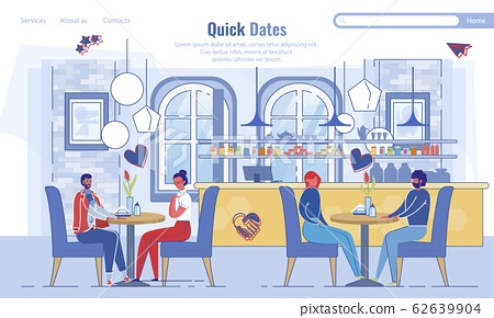Landing Page Inviting to Quick Dates at Cafeteria 62639904