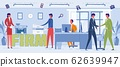 Firm Workers Daily Routine Word Concept Banner 62639947