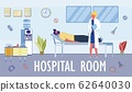 Comfortable Hospital Ward Conditions for Patients. 62640030