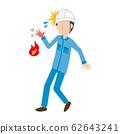 职业伤害职业伤害燃烧的男性 62643241