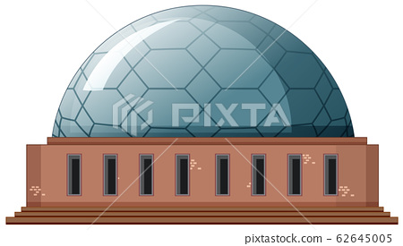 Single building with round roof 62645005