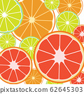 Seamless background pattern with slices of oranges 62645303