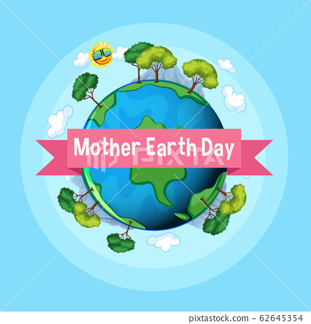 Poster design for mother earth day with many trees 62645354