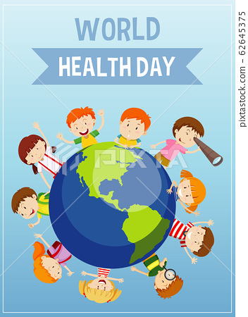 Poster design for mother earth day with happy 62645375