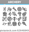 Archery Activity Sport Collection Icons Set Vector 62646849