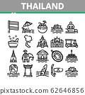 Thailand National Collection Icons Set Vector 62646856