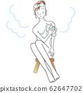 女人洗身體在浴 62647702