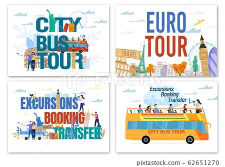 Euro and Worldwide Excursion Booking Tour Set 62651270