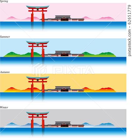 嚴島神社的插圖 62651779