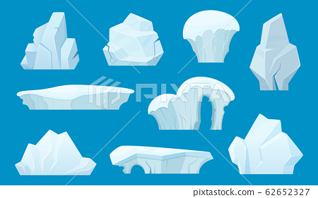 Low Poly Cartoon Iceberg With Hidden Underwater Part. Simple.. Royalty Free  Cliparts, Vectors, And Stock Illustration. Image 123989759.