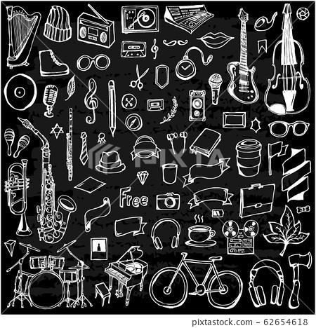 Set of Music Drawing illustration Hand drawn 62654618