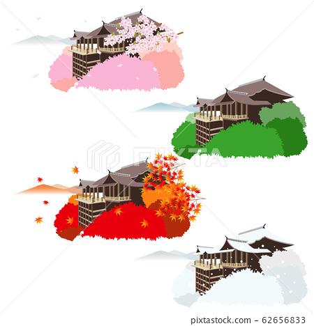 清水寺春季,夏季,秋季和冬季 62656833
