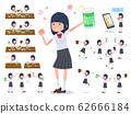flat type school girl White shirt summer_drink 62666184
