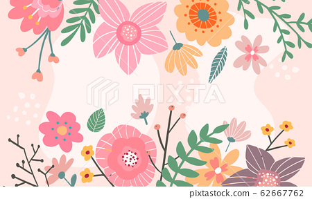 Vector border with lemon, white, blue, pink 62667762