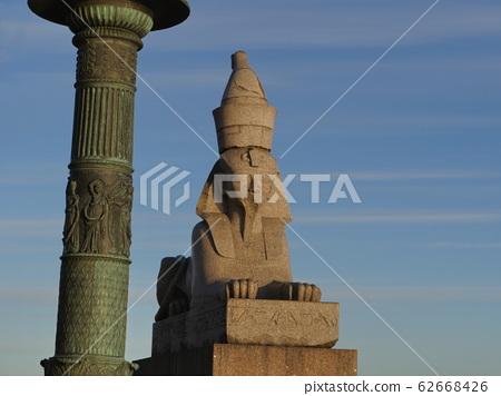 Sphinx with head of an Egyptian pharaoh 62668426