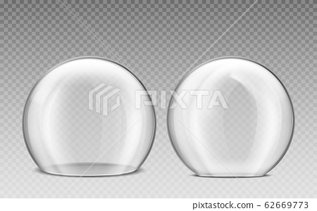Glass dome, transparent plastic sphere 62669773
