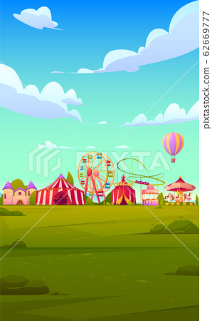 Smartphone background theme with carnival funfair 62669777