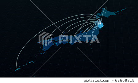 Network line extending from Iwate Prefecture to Japan 62669819