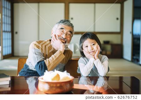 爺爺和孫子的生活方式 62676752