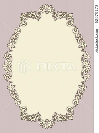 巴洛克式的裝飾品,裝飾性邊框,裝飾性外殼,背景模板|復古,復古,矢量數據 62679172