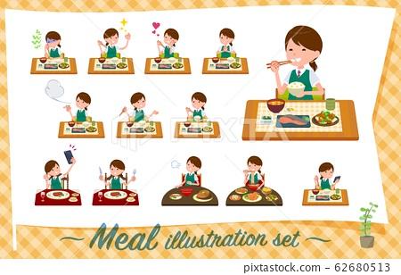 flat type school girl green vest summer_Meal 62680513