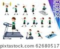 flat type school girl green vest summer_exercise 62680517