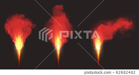 Burn red flare, emergency signal light 62682482