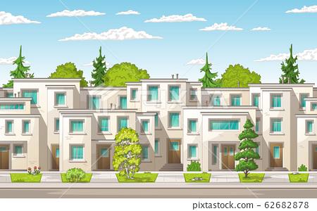 Modern Town Buildings 62682878