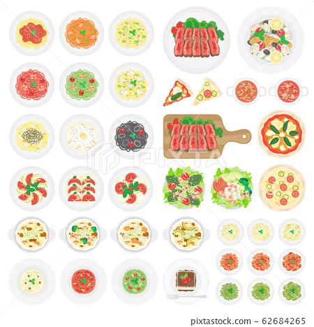意大利食品插圖集 62684265