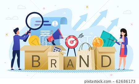 Businesspeople Develop Marketing Brand Strategy 62686173