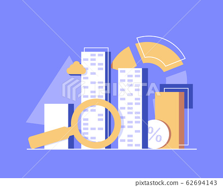 Search investment,Financial investment and management,flat design icon vector illustration 62694143