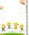1 학년 초등학교 입학 벚꽃 62698435