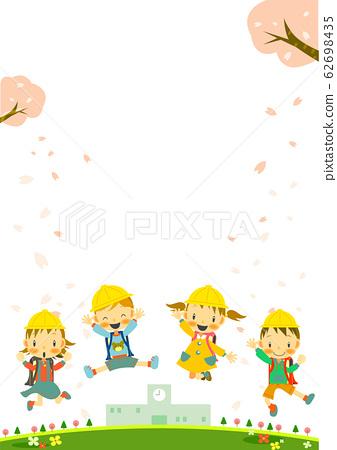 小學一年級入學櫻花 62698435