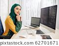 Programming young woman 62701671