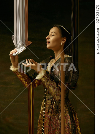 Medieval young woman as a duchess, creative design, art vision 62703879