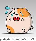 Cartoon animal illustration. Cute hamster sit and 62707690