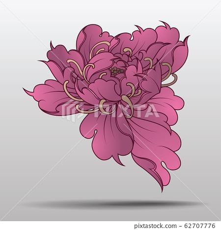 ornamental Lotus, ethnic zentangled henna tattoo, 62707776
