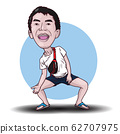 self caricature cartoon boy character 62707975