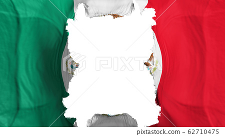 Ripped Mexico flying flag 62710475
