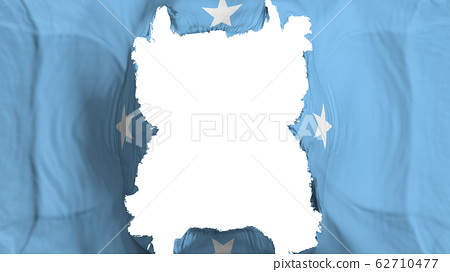 Ripped Micronesia flying flag 62710477