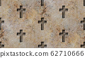 seamless christian cross pattern 3d rendering illustration 62710666