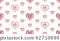 seamless heart shapes pattern 3d rendering illustration background 62710690
