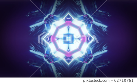 abstract futuristic kaleidoscope effect 3d rendering illustration background 62710761