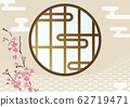Shoji Japanese pattern Aomi wave 62719471