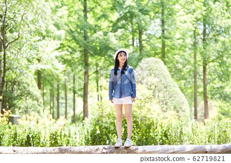 女人,森林,公园,春川,江原道 62719821