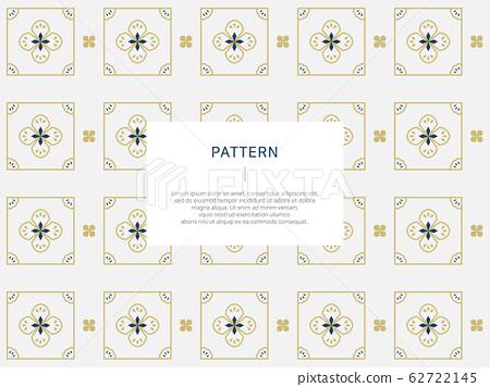 황토색과 남색 연속 패턴 62722145