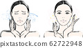 Woman runny nose before and after 62722948