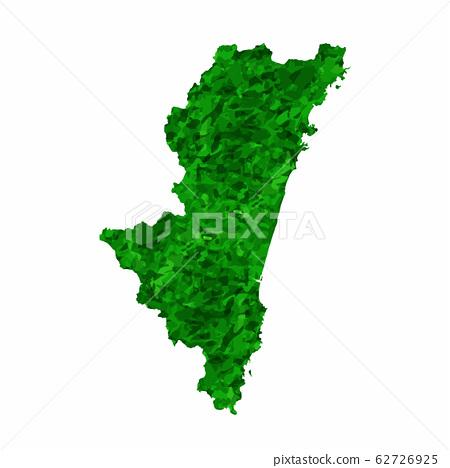 宮崎地圖綠色圖標 62726925