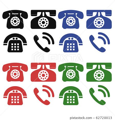 Phone, black phone, handset, TEL, icon 62728013
