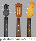 Set of Guitar neck fretboard and headstock 62732111